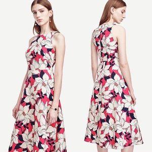 ANN TAYLOR | Hibiscus Linen Dress